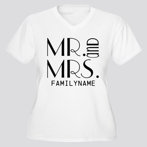 Personalized Mr. Women's Plus Size V-Neck T-Shirt