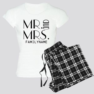 Personalized Mr. Mrs. Women's Light Pajamas