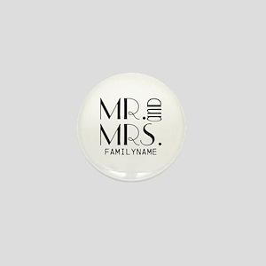 Personalized Mr. Mrs. Mini Button
