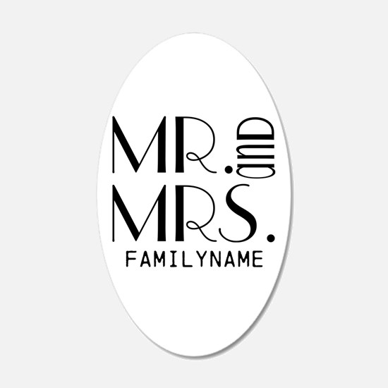 Personalized Mr. Mrs. Decal Wall Sticker