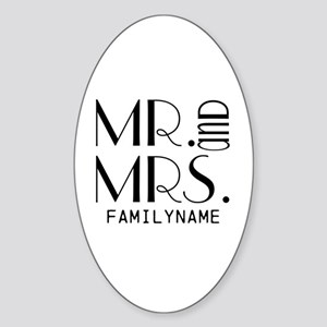 Personalized Mr. Mrs. Sticker (Oval)