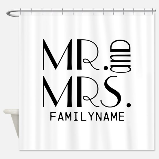 Personalized Mr. Mrs. Shower Curtain