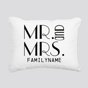 Personalized Mr. Mrs. Rectangular Canvas Pillow