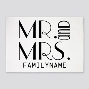 Personalized Mr. Mrs. 5'x7'Area Rug