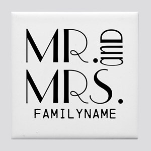 Personalized Mr. Mrs. Tile Coaster