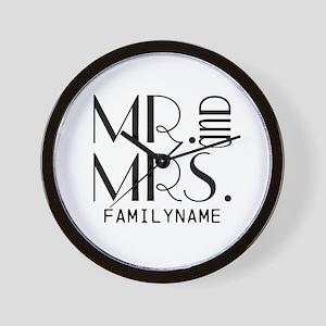 Personalized Mr. Mrs. Wall Clock