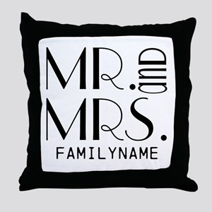 Personalized Mr. Mrs. Throw Pillow
