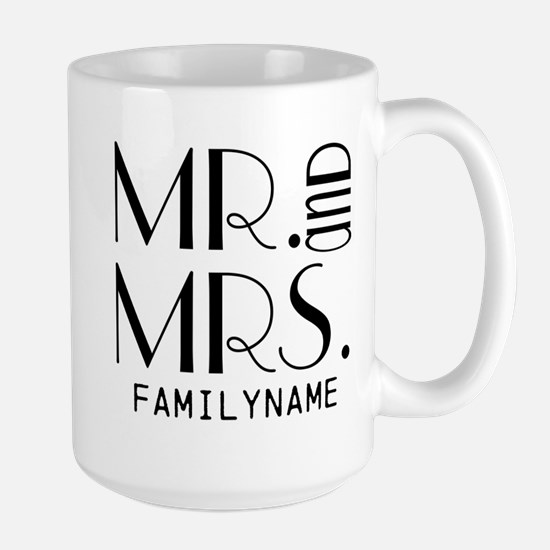 Personalized Mr. Mrs. Large Mug