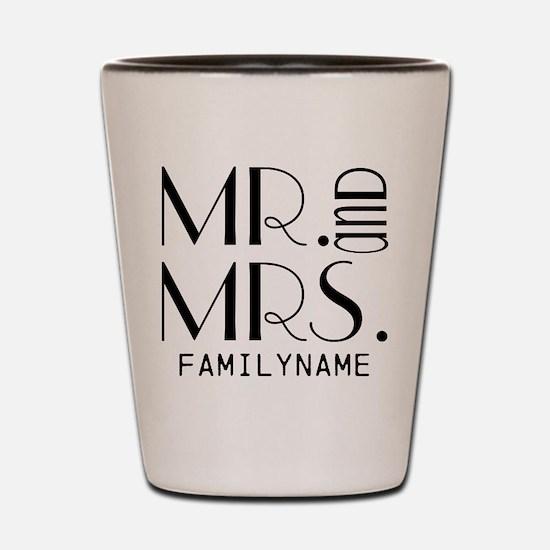 Personalized Mr. Mrs. Shot Glass