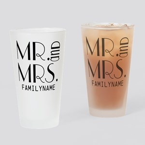 Personalized Mr. Mrs. Drinking Glass
