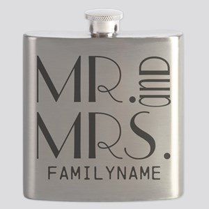 Personalized Mr. Mrs. Flask