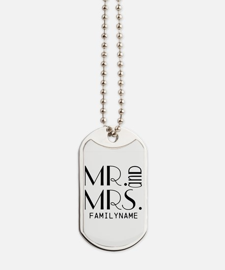 Personalized Mr. Mrs. Dog Tags