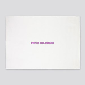 Love IsThe Answer 5'x7'Area Rug