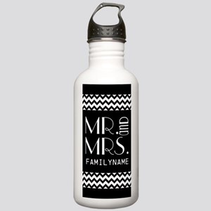 Cute Mr and Mrs Chevro Stainless Water Bottle 1.0L