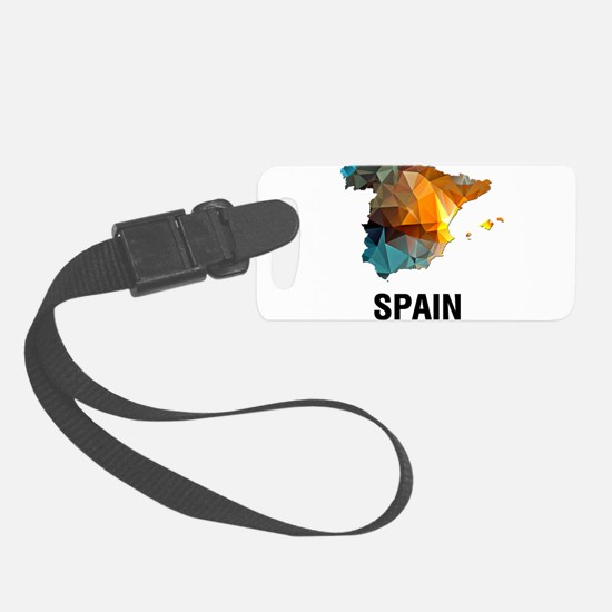Polygon Mosaic Map of Spain Luggage Tag