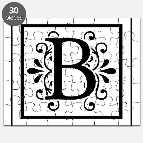 Letter B Monogram Puzzle