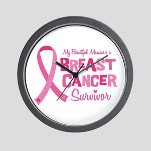 Mamaw Breast Cancer Wall Clock