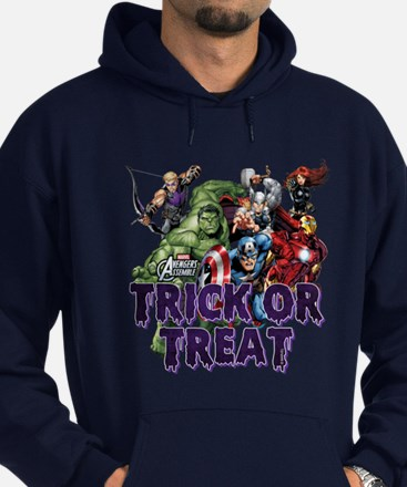 Avengers Assemble Trick or Treat Hoodie (dark)