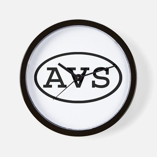 AVS Oval Wall Clock