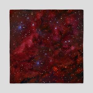 Red Nebula Queen Duvet