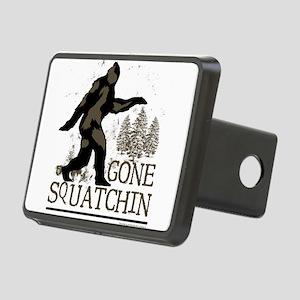 Sasquatch Gone Squatchin Rectangular Hitch Cover