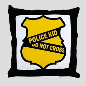 Police Kid Do Not Cross Throw Pillow
