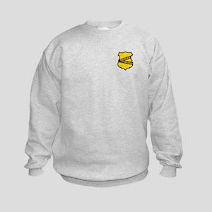 Police Kid Do Not Cross Kids Sweatshirt
