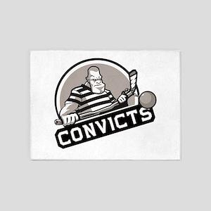 Convicts Hockey 2017 - Default 5'x7'Area Rug