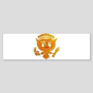Vintage Gold Presidential Seal Sticker (Bumper)