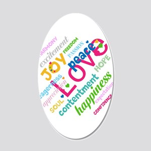 Positive Thinking Text 20x12 Oval Wall Decal
