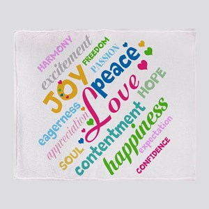 Positive Thinking Text Throw Blanket