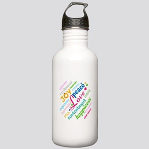 Positive Thinking Text Stainless Water Bottle 1.0L