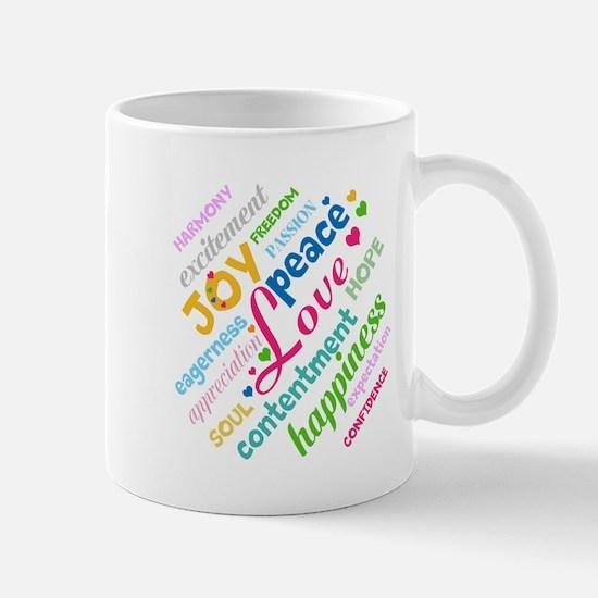 Positive Thinking Text Mug