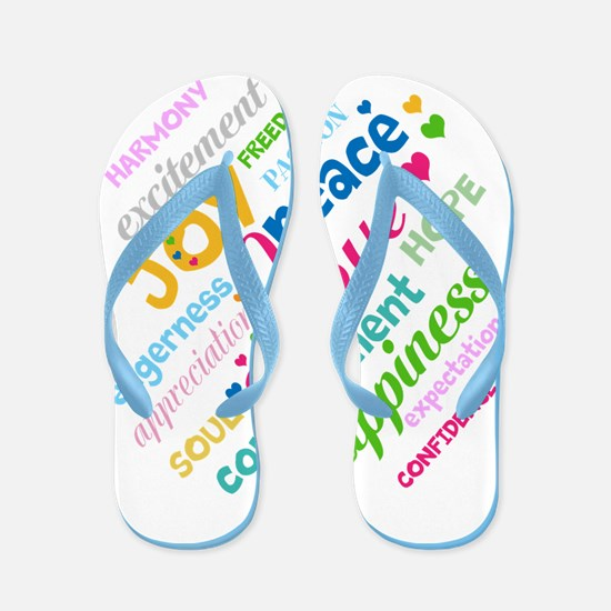 Positive Thinking Text Flip Flops