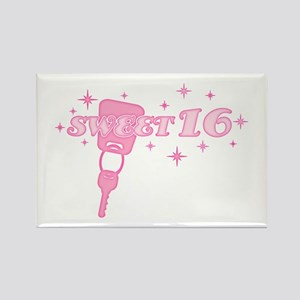 Sweet 16 Key Rectangle Magnet