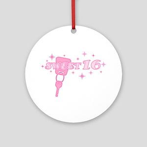 Sweet 16 Key Ornament (Round)