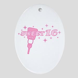 Sweet 16 Key Oval Ornament