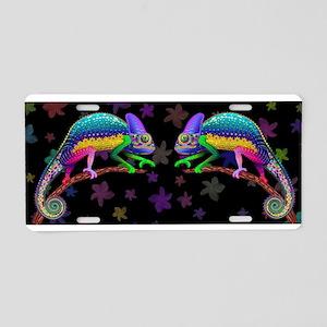 Chameleon Fantasy Rainbow Aluminum License Plate