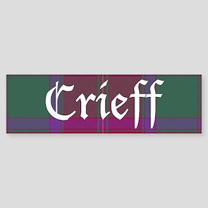Tartan - Crieff dist. Sticker (Bumper)