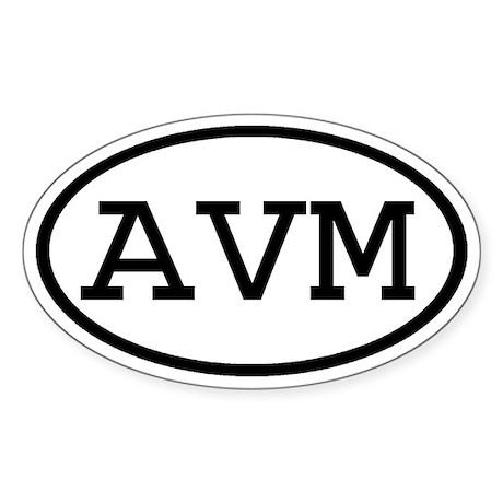 AVM Oval Oval Sticker
