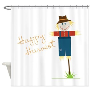 Scarecrow Autumn Shower Curtains
