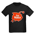 Fish Wrangler - Hate Fish Logo Kids T-Shirt
