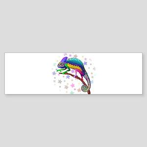 Chameleon Fantasy Rainbow Bumper Sticker