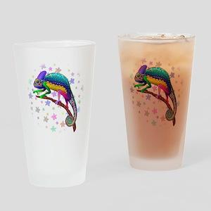 Chameleon Fantasy Rainbow Drinking Glass
