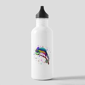 Chameleon Fantasy Rainbow Water Bottle