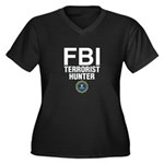 FBI Terrorist Hunter Women's Plus Size V-Neck Dark