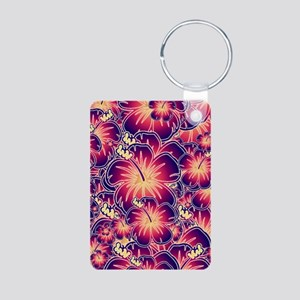 Purple hibiscus Keychains