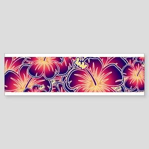 Purple hibiscus Bumper Sticker