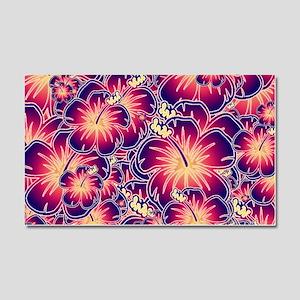 Purple hibiscus Car Magnet 20 x 12