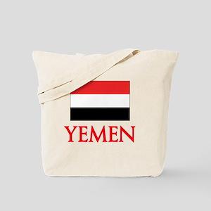 Yemen Flag Design Tote Bag